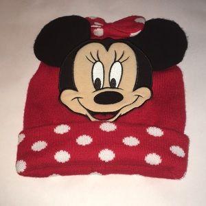 Disney Minny Mouse red/black polka dot toboggan